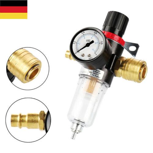"""Wasserabscheider Druckluft Druckminderer For Kompressor 1//4/"""" Anschluss// 100 Bar"""