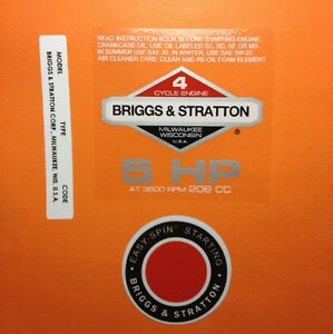 Briggs-amp-Stratton-5-hp-1978-1980-Shroud-Labels-Decals-set-of-3-78-5Set