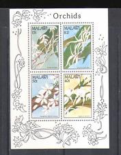 MALAWI 1990 Orchidee/Fiori/NATURA/piante 4v M/S n14844