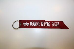 Image is loading Alpha-Industries-Rbf-Key-Ring-191907-Remove-before- b848e90362