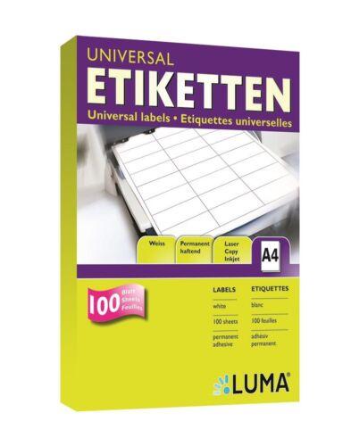 1 Pack mit je 2 Laser Copy Inkjet Etiketten 210 x 148 mm