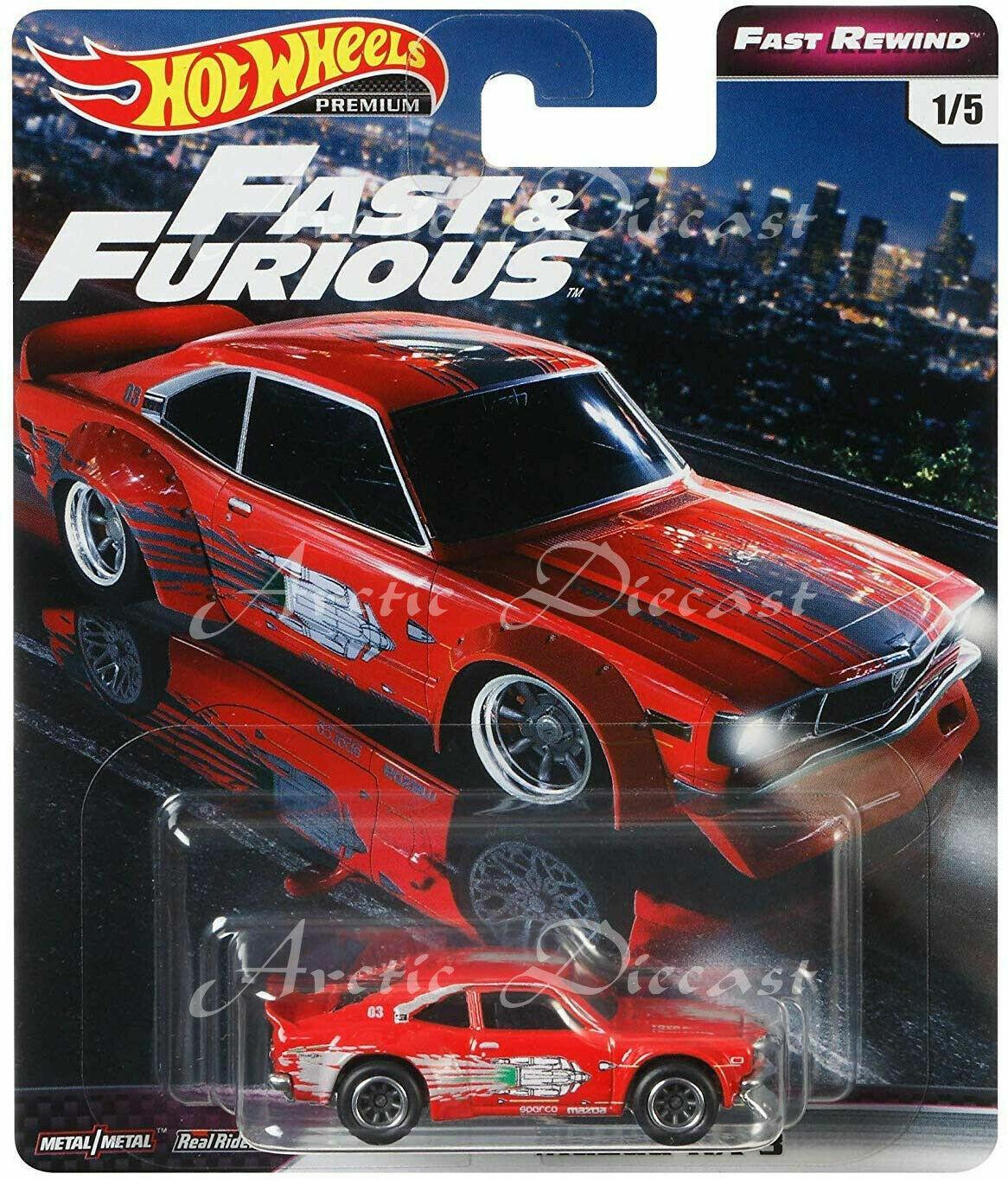 Fast /& Furious premium casi Rewind set 5 modelo 1:64 coches hot wheels gbw75