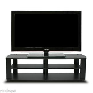 Black tv stand media entertainment center 42 50 60 inch flat image is loading black tv stand media entertainment center 42 50 sciox Image collections