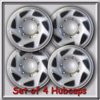 Set 4 16 1997-2014 Ford Van E-350 Hubcaps, 1 Ton Econoline Wheel Covers