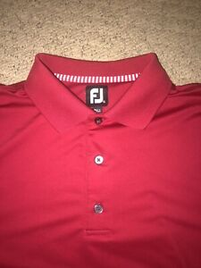 New-FootJoy-Mens-Polo-Golf-Shirt-Size-Extra-Large-FJ-Spandex-XL-Red-Thompson-Cat
