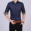 Business-Office-Work-Men-Casual-Stylish-Slim-Fit-Short-Sleeve-Shirt-Tops-Blouse thumbnail 4