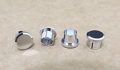 Noise Stopper Rhodium Plated Copper RCA Plugs Caps jacks 20 PCS