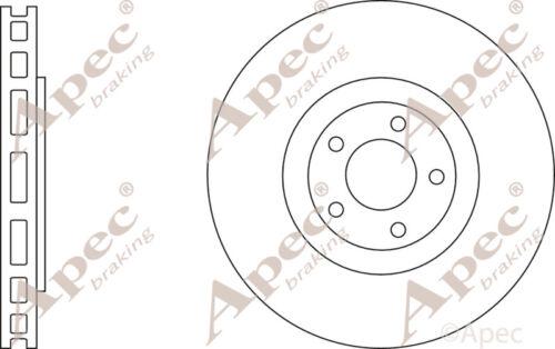 FOR VW POLO GENUINE APEC DSK3202 PAIR FRONT BRAKE DISCS