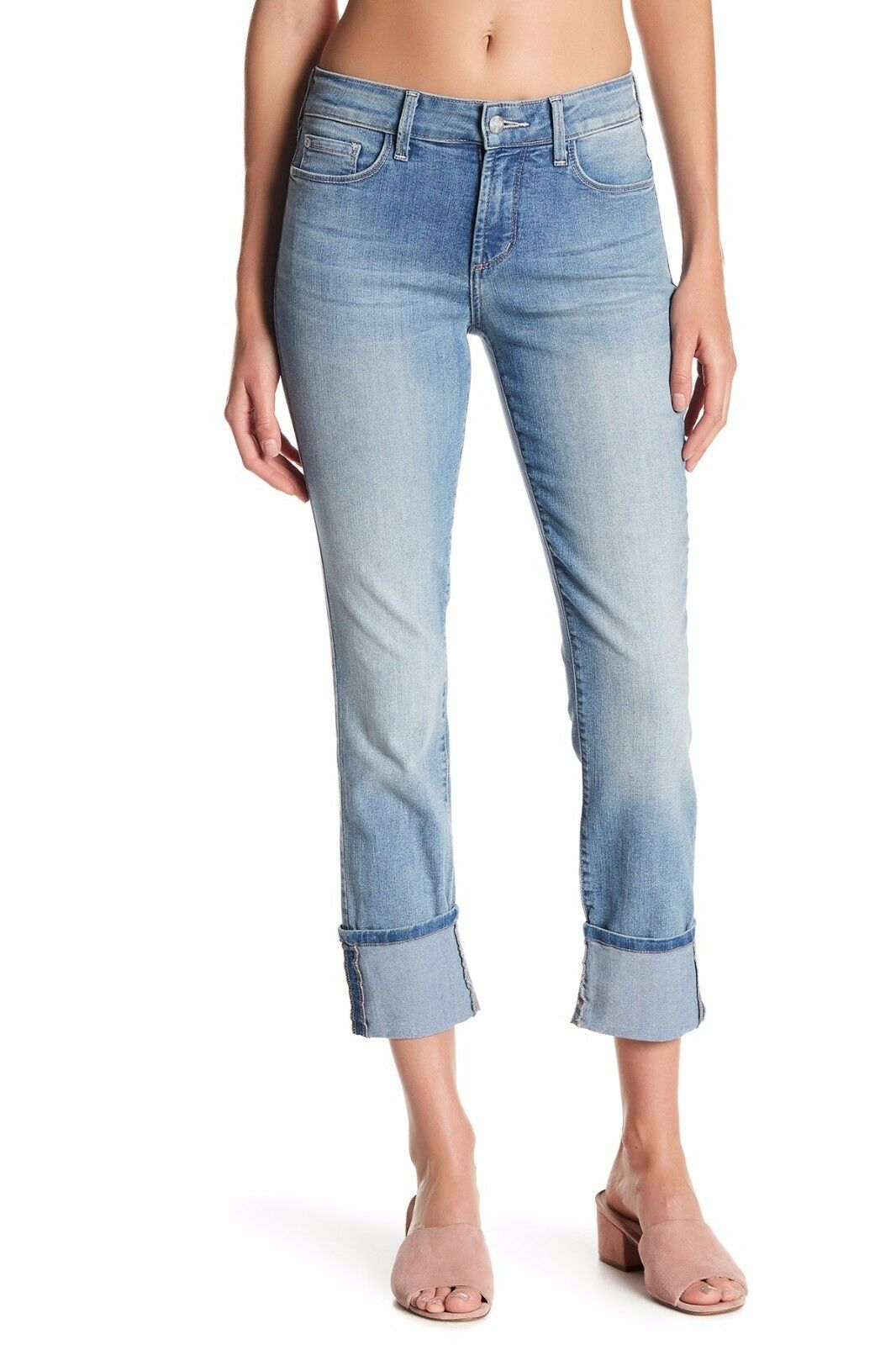 NWT NYDJ Lorena Cuffed Slim Boyfriend High Rise Jeans in Manhattan Beach 6