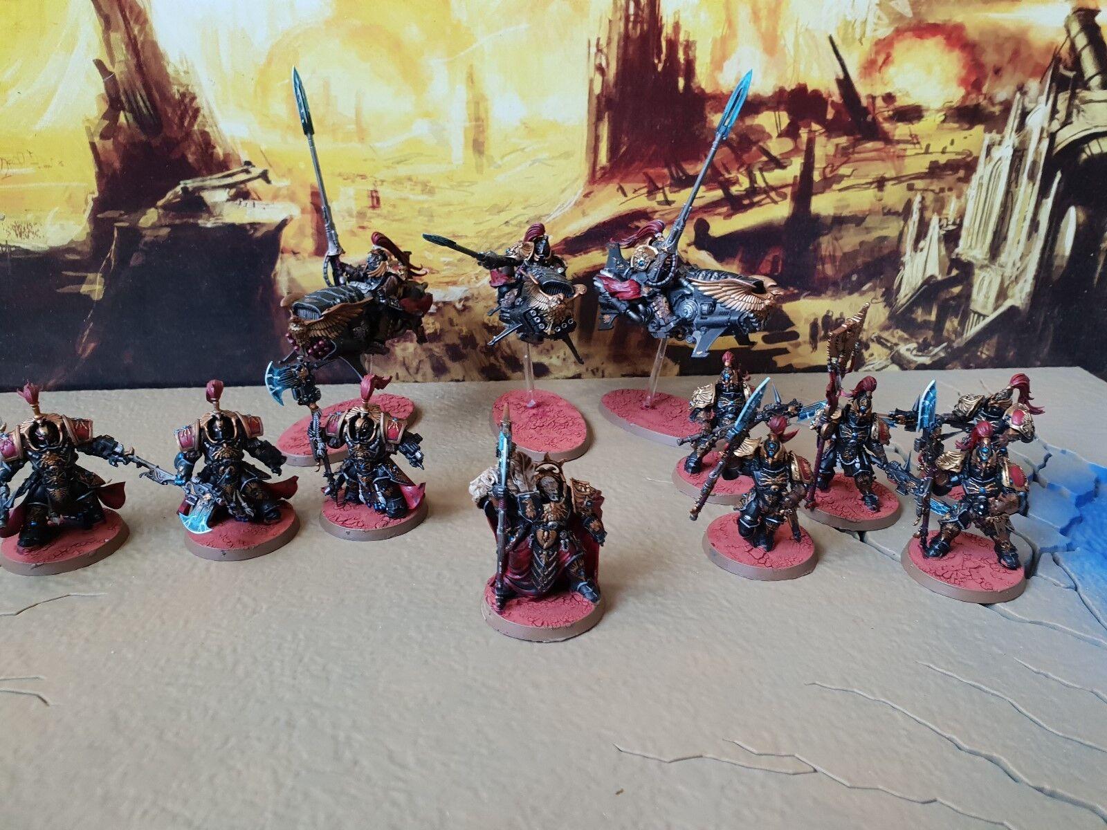 Warhammer 40k shadowkeepers vigila Ejército Pro pintado de 1000 puntos.