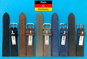 XS-Velour-Uhrband-17-18-20mm-kurz-weich-handgemacht-Made-in-Germany