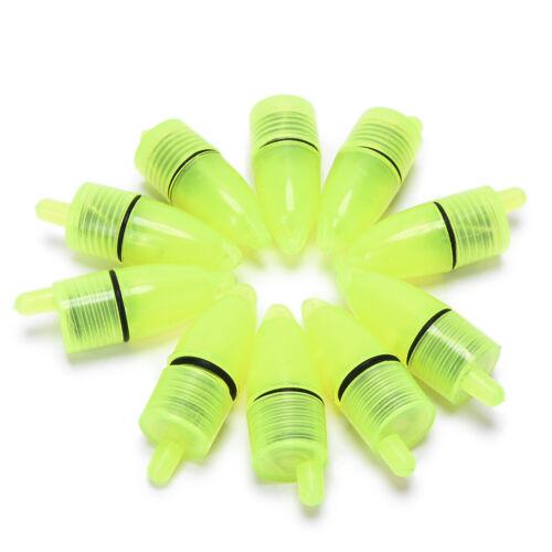 10 Stück Angeln Licht LED Alarm Schwimmsensor Fisch Signal Angeln Supplies ZJHN