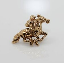 14k Yellow Gold Horse and Jockey Tie Tack