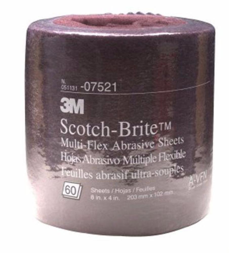 3M Scotch-Brite Multi-Flex Abrasive Roll Maroon Very Fine 8 inch x 4 inch 07521