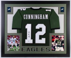b21489ffbb3 Image is loading Randall-Cunningham-Signed-Philadelphia-Eagles-35x43-Framed- Jersey-