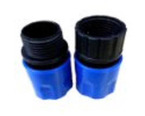 Unimag Quick-Hose Schnellverb Blau Adapter f Wasser//Gartenschlauch 7,5 bis 30m