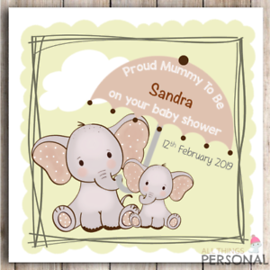 Personalised Cute Baby Shower Card Friend Sister Colleague Daughter