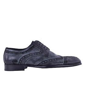 Dolce-amp-Gabbana-Cuir-Sauvage-Business-Derby-Chaussures-Noir-Habille-05065