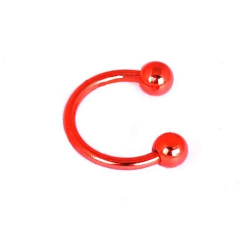16 Gauge 316 L CHIRURGICAL Fer à Cheval Septum Circulaire Barbell-Petit