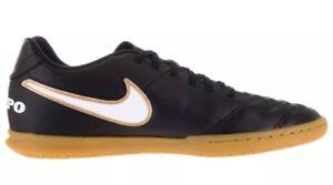 c6eecb08b28 Nike Tiempo Rio III IC Indoor Soccer Men s Size 7.5 Shoes Black Gold ...