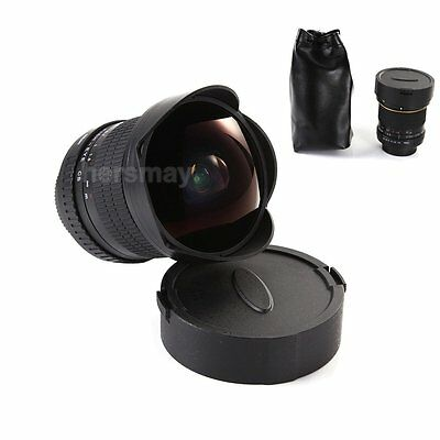 8mm f/3.5 Super Wide Angle Aspherical Fisheye Lens For Nikon D7200 D810A D750 D1