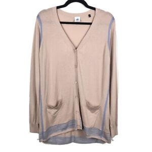 Cabi-Womens-Lucy-Cardigan-Sweater-5288-Buff-Long-Sleeve-Button-Up-Size-Medium