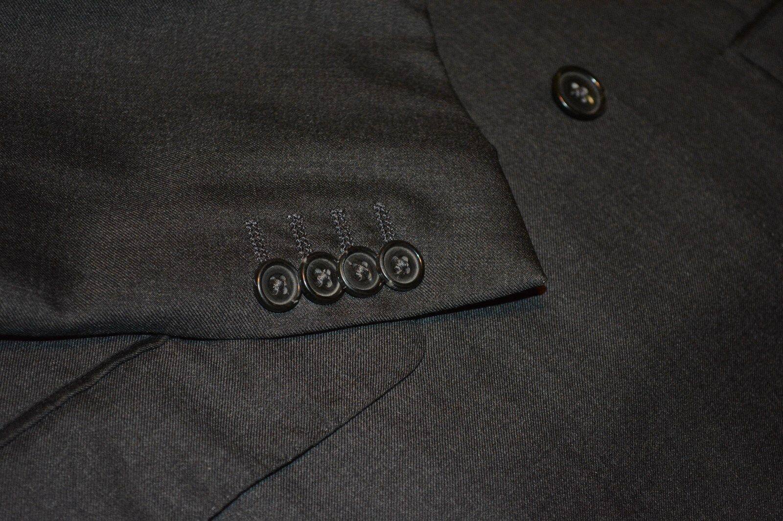 2895 Ermenegildo Zegna grau Serge Wool Suit 40R 34W