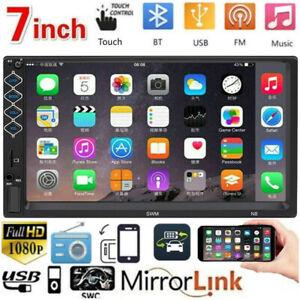 2Din-7-034-Autoradio-Ecran-Tactile-Voiture-Car-Stereo-MP5-Player-USB-AUX-BT-FM-Radio
