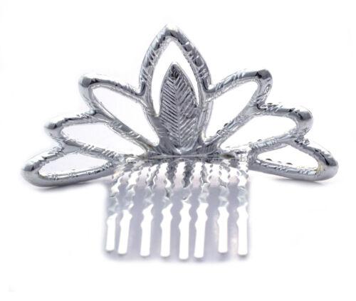 Clear Crystal Halloween Princess Flower Girl Mini Crown Tiara Hair Comb t23
