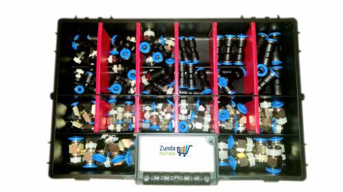 Potenza idraulica sortimentbox 138 pezzi aria compressa steckverschraubung Connettori