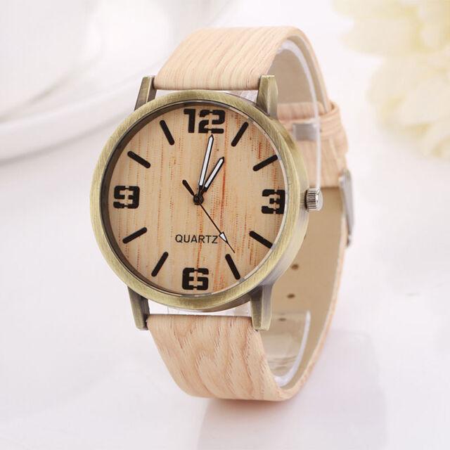 Vintage Wood Grain Watches Fashion Women Quartz Watch Wristwatch Gift Hottest