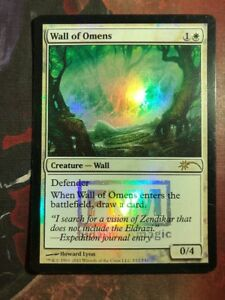 1 PROMO PLAYED FOIL Wall of Omens White FNM Friday Night Magic Mtg Magic Rare