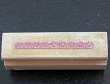 Small Mini Semi-circle Mandala Lace Border Rubber Stamp