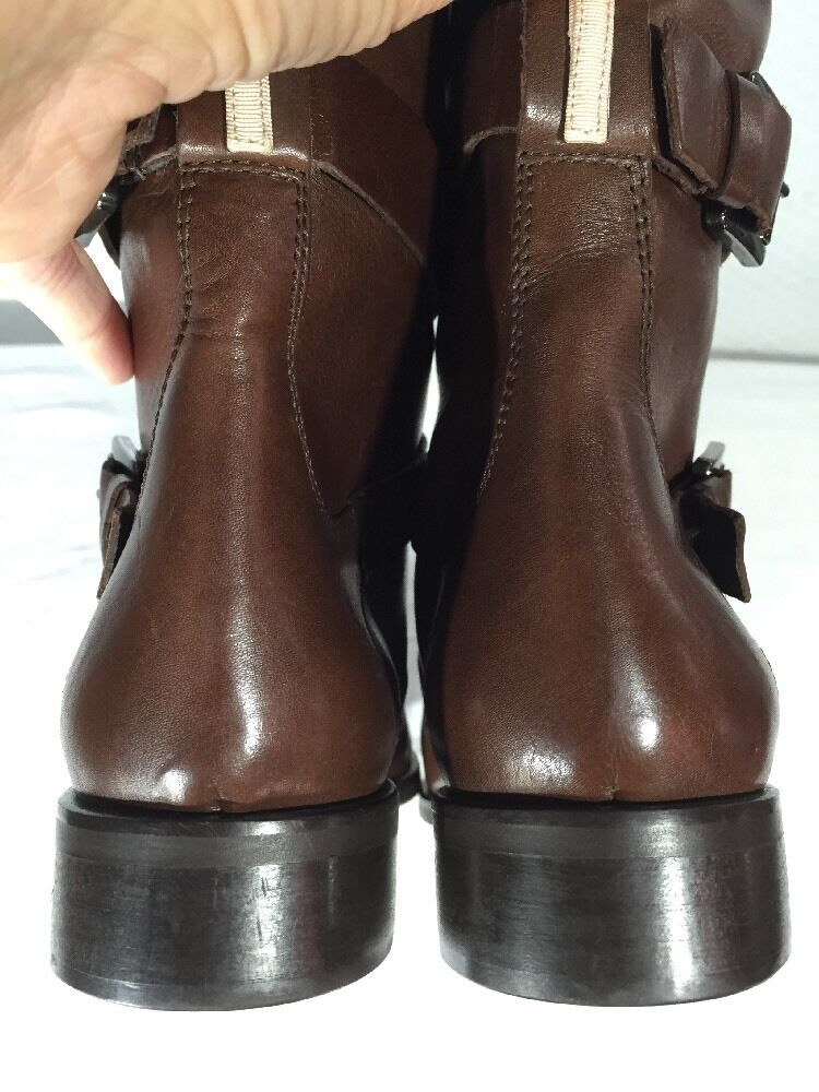SJP SARAH JESSICA PARKER KELLY TALL LEATHER LEATHER LEATHER RIDING BOOTS BROWN SIZE 7 NEW   595 755e2a