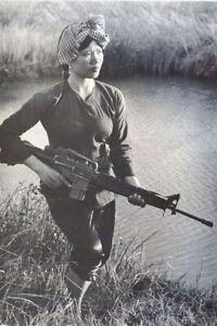Sexy-woman-with-rifle-Vietnam-War-Photo-034-4-x-6-034-inch