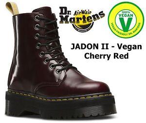 Dr Martens Jadon VEGAN 80s Style Quad Retro Cherry Red Cambridge ... 546a493db2d7d