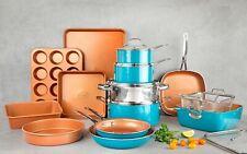 Gotham Steel Turquoise 20 Piece Ultra Nonstick Cookware & Bakeware Set