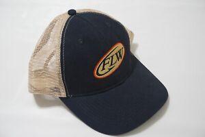 FLW Navy Blue Beige Back Mesh Hat EXCELLENT