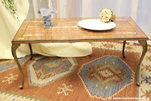 Tavolo Da Cucina In Marmo Anni 50.Antico Tavolo Da Salotto In Onice E Ottone Cm 108 Tavolino Anni