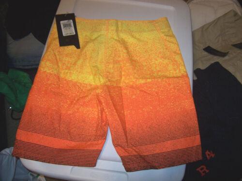 NEW Hurley yellow orange youth boys swim board shorts swimsuit pick sz 16 18 20