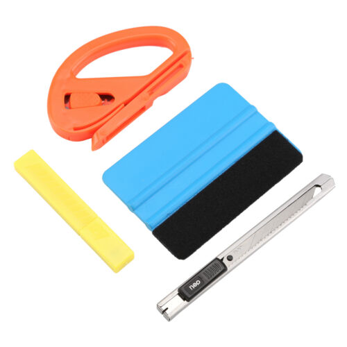 4IN1 Car Vinyl 3M Felt Squeegee Snitty Cutter Blades Window Tint Wrapping Tools
