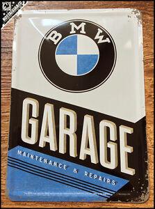 BMW  Garage Maintenance Repairs Metal Postcard Mini Tin Sign