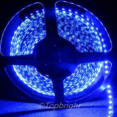 5X 5m Blue SMD 3528 Waterproof Flexible 600 LED Strip