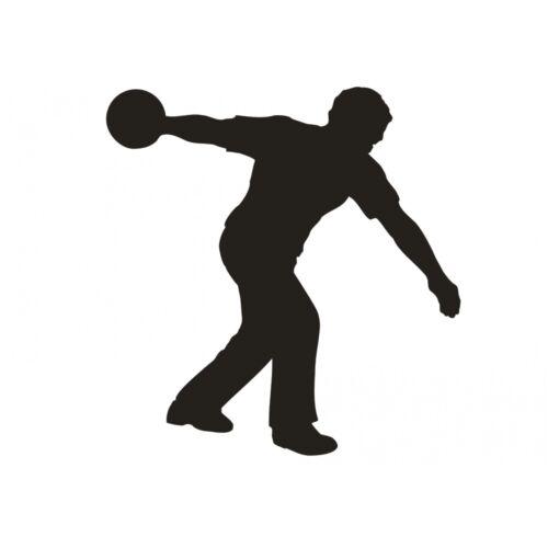 Schatten Wandtattoo  Kegeln Bowling Kegel Bowlingkugel Sport Wandaufkleber