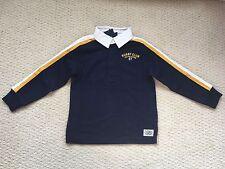 NWT $55 Ralph Lauren Boy's Navy Cotton Jersey Rugby Shirt Top - Sz. 4 4T