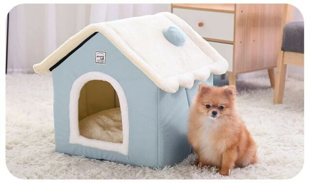 Portable Dog House Folding Chihuahua Doghouse Indoor Kennel Soft Warm Cute For Sale Online Ebay