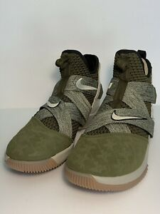 sports shoes f73ef e0c80 Details about Nike Lebron Soldier XII 12 James Olive/Green AO2609-300 Land  and Sea Men Size 8