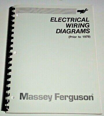 massey harris wiring diagrams massey ferguson mh pre 1979 electrical wiring diagrams manual  mh pre 1979 electrical wiring diagrams