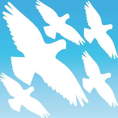 Nett Warnvogel Set L Weiß Habicht Aufkleber Tattoo Vogel Fenster Glas Schutz Folie Eine GroßE Auswahl An Waren