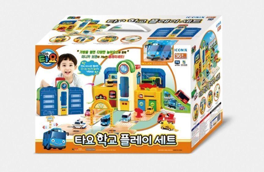 liten buss TAYO School spela Set leksak Korea Tv Animation Character leksaker Kid -Nu